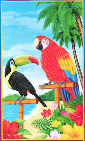 pirate scene parrot toucan door mural wall decor luau decoration 6ft tropical island scene setter parrot toucan rainforest birds wall hanging luau beach pool party decoration