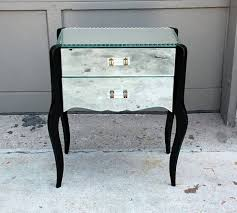 Mirrored Bedside Tables Furniture Charming Bedroom Furniture Decoration With Mirrored