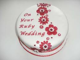 ruby wedding cakes ruby wedding anniversary cake ideas idea in 2017 wedding