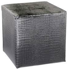 cyan design 02753 reptile ottoman silver faux contemporary