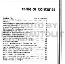 1990 ford engine emissions diagnosis repair shop manual original