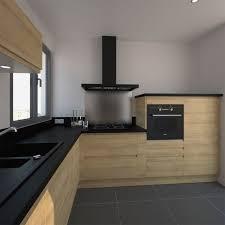 cuisine bois et inox cuisine bois noir best of stunning cuisine noir mat et bois