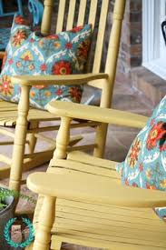 diy vintage painted rocking chairs chair painting blue chalk