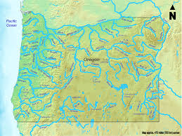 Map Of Rivers Map Of Oregon Map Rivers Worldofmaps Net Online Maps And