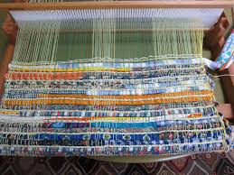 thinking out loud weaving a rag rug on the rigid heddle loom