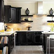 Black Kitchen Cabinets Black Painted Kitchen Cabinets Free Home Decor