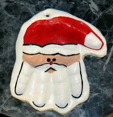 santa handprint ornament tutorial by dianne so to do with