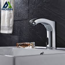 tough as tile sink and tile finish chrome finish bathroom sink automatic faucet sense faucets single