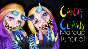 Monster Halloween by Candy Claws Candy Monster Halloween Makeup Tutorial 31 Days Of