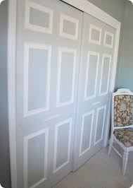 How To Rehang Sliding Closet Doors What A Genius Idea For Those Boring White Sliding Closet