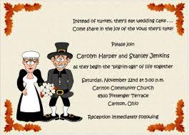 pilgrimage thanksgiving wedding invitations