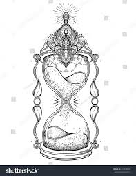 decorative antique hourglass illustration isolated on stock vector