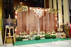 wedding backdrop design malaysia rustic wooden backdrop bentong golden court restaurant purple