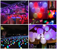 terrific light and balloon decoration idea for parties