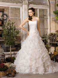 dropped waist wedding dress strapless drop waist wedding gown with cascading tulle skirt