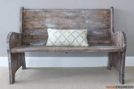 Plans For Building A Wood Bench by How To Build A Church Pew Free Diy Plans Rogue Engineer