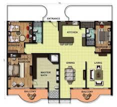 apartment design and floor plan 3 bedrooms duplex floor flats plan