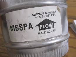 majestic to simpson pipe adapter part mbspa flynn u0027s plumbing