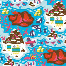 octopus wrapping paper wrapping paper till hafenbrak illustration