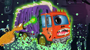 kids halloween wallpaper scary garbage truck car wash kids halloween video youtube