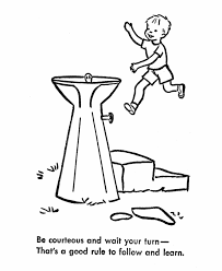 learning years child safety coloring page playground safey