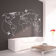 world map outlines wall decal continents decal large request a custom order and have something made just for you