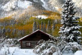 winter cabin log cabin rentals near denver