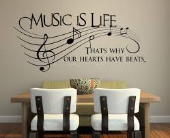 wall decorations for bedrooms music is life wall decal bedroom wall decals stickers art decor