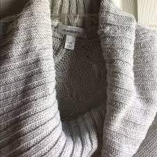 59 off dress barn sweaters gray cowl neck sweater poncho