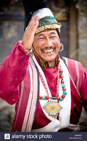 ladakh clothing leh ladakh kashmir india dressed in traditional clothing