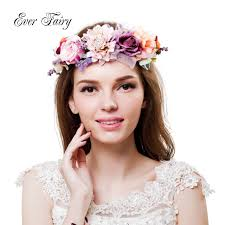headband floral fairy new 2017 women flower headband festival