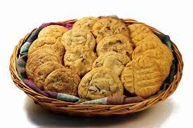 cookie basket gifts blue cookies