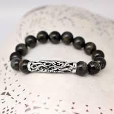 silver charm bead bracelet images Cloud silver charm tigers eye beaded bracelets callvogue jpg
