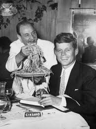 John F Kennedy Rocking Chair John F Kennedy Getting Served Fettuccine By Alfredo Di Lelio At
