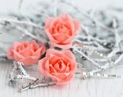 barrettes hair 71 coral hair accessories wedding hair pins pins flower