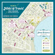 Map New Orleans by New Orleans Event Map Lishalee Designs