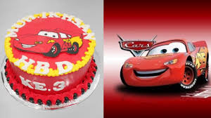 lightning mcqueen cars cake decoration easy youtube