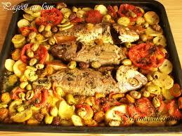 plat cuisiné au four pageot au four et ses petits légumes fati
