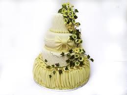 tier draped wedding cake