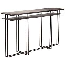 Metal Console Table Cross Binate Deco Minimal Metal Console Table With Slate And