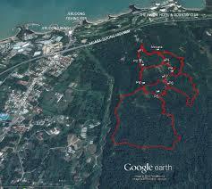 Brunei Map Hiking In Brunei Darussalam Bukit Shahbandar Trail Map U2013 Shimworld
