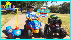 monster truck videos on youtube playtime at the park paw patrol power wheels kinder eggs surprise