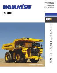 camión minero komatsu 730e by komatsu mitsui maquinarias perú