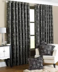 Black And Grey Curtains Diverse Lined Ready Made Curtains New House Spare Room
