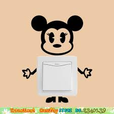 aliexpress buy cute mickey mouse switch stickers nursey