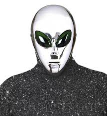 mask alien silver aliens