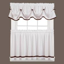 red window scarves u0026 valances window treatments the home depot