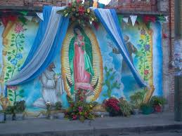 Guadalupe Flag Christmas In México U2013la Virgen De Guadalupe Surviving Mexico