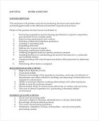 sample job description 10 examples in pdf word