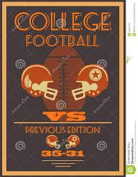 decoration vintage americaine vintage college american football poster stock photos image